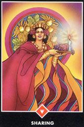 Значение карты таро королева огня - щедрость, толкование карты таро королева огня - щедрость, карта королева огня